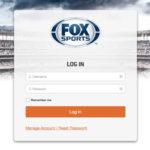 FOX sports login page branding