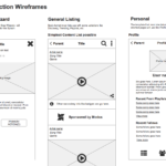 Section Wireframes