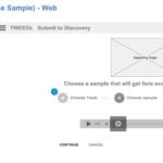 Web based Music Upload Wireframes